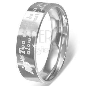 Prsteň z nerezovej ocele - srdcia so šípom a vyznanie lásky