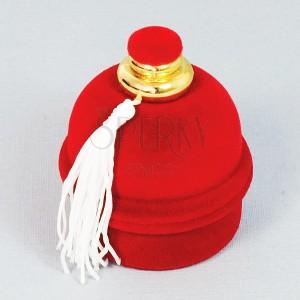 Darčeková krabička na prsteň - červený zamatový flakón