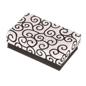 Darčeková krabička na súpravu - čiernobiele ornamenty