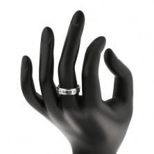 Strieborný prsteň 925 - obrúčka s rímskymi číslami