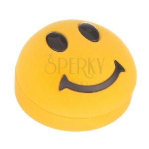 Krabička na náušnice - žltý smajlík