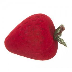 Krabička na prsteň - červená jahôdka
