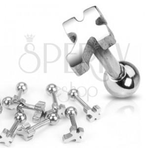Piercing do ucha z chirurgickej ocele - hladký kríž