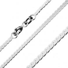 Šperky eshop - Lesklá retiazka zo striebra 925 - esovitá línia, 1,8 mm AB23.02