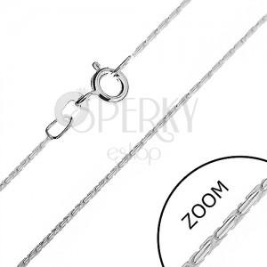 Strieborná retiazka 925 - okrúhla línia z paličiek, 0,9 mm