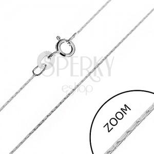Strieborná retiazka 925 - lesklý had z paličiek, 0,6 mm