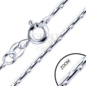 Retiazka zo striebra 925 - paličkové články, 1,3 mm