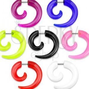 Falošný expander do ucha v tvare špirály, rôzne farby