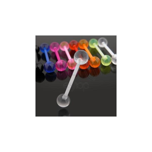 Piercing do jazyka z UV flexibilného materiálu