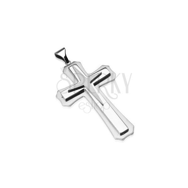 Prívesok z chirurgickej ocele - kríž s hviezdou