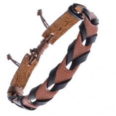 Šperky eshop - Karamelovo hnedý kožený remienok na ruku, prepletaný Z13.8