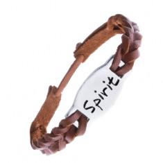 """Šperky eshop - Remienok na ruku z kože - pletený, karamelovo hnedý, """"SPIRIT"""" Z13.1"""