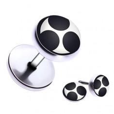 Šperky eshop - Piercing do ucha z ocele so špirálovým motívom PC36.03