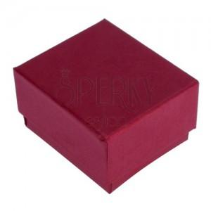 Červeno-hnedá krabička na prsteň s perleťovým leskom