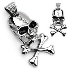 Prívesok pirátsky symbol - lebka a kosti