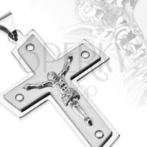 Oceľový prívesok - Kristus na kríži