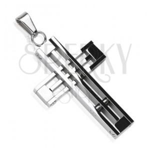 Prívesok z chirurgickej ocele - kríž z prekrížených línií