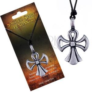 Náhrdelník so šnúrkou – kríž Sacred Spirit v podobe anjela