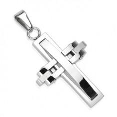 Šperky eshop - Prívesok z chirurgickej ocele - pohyblivý kríž G1.31