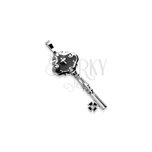 Oceľový prívesok zámocký kľúč s guličkami