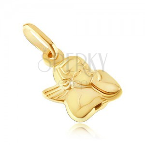 Zlatý prívesok 585 - busta anjelika s podopretou hlavou