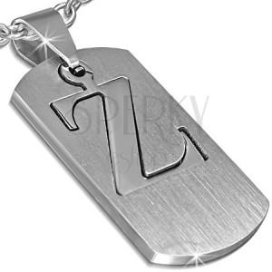 """Prívesok z ocele - známka s písmenom """"Z"""", dvojdielna"""