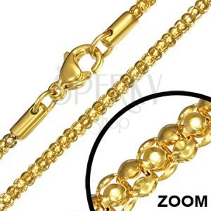 Retiazka z chirurgickej ocele, zlatá farba, hadí vzor