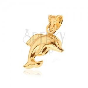 Zlatý prívesok 585 - matný skákajúci delfín