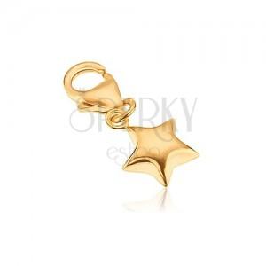 Prívesok zo zlata 14K - päťcípa hviezdička, vypuklý povrch