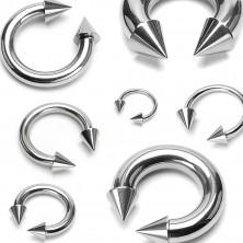 Piercing podkova s hrotmi basic, rôzne veľkosti