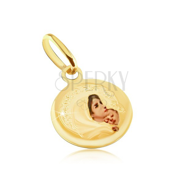 Zlatý prívesok 585 - okrúhly medailón 62866fd4720