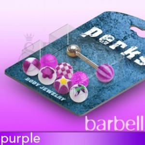 Piercing do jazyka cukríkové guličky - sada | Šperky Eshop