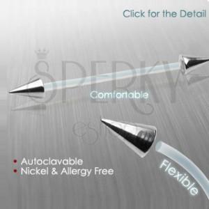 Piercing flexibilný s hrotmi