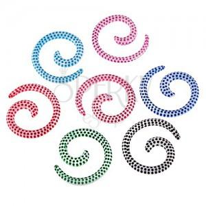 Expander do ucha - biely slimák s farebnými bodkami