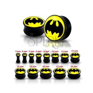 Lesklý čierny plug do ucha - Batman