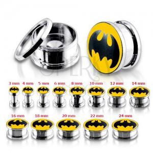 Oceľový tunel plug do ucha, Batman