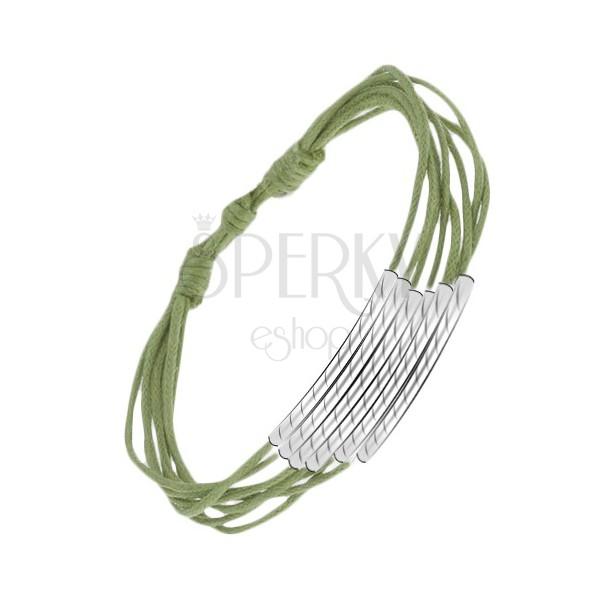 Zelený šnúrkový multináramok s ryhovanými valčekmi