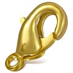Karabínka zlatej matnej farby, 10 mm