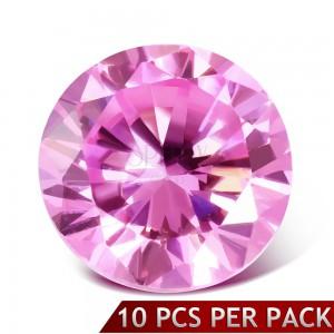 Okrúhly ružový brúsený kamienok, 3 mm