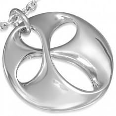 Prívesok z chirurgickej ocele - kvapky v špirálovom kruhu