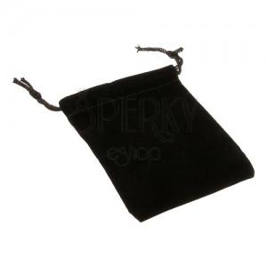 Obdĺžnikové vrecúško na darčeky - čierny zamat