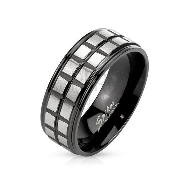 Čierny oceľový prsteň e9be3e8e6ec