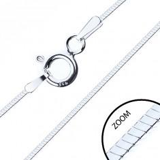 Tenká štvorhranná retiazka, striebro 925, 0,6 mm