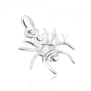 Strieborný 925 prívesok, pavúk