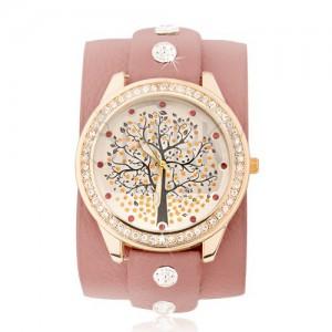 f6234d320b Lososové náramkové hodinky