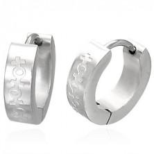 Náušnice z ocele so znakom muža a ženy