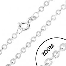 Retiazka s oválnymi kolmo napájanými očkami, striebro 925, 1,4 mm