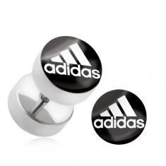 "Falošný plug do ucha z chirurgickej ocele, logo ""adidas"""