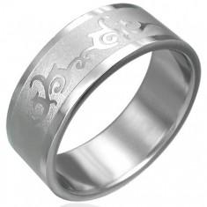 Šperky eshop - Prsteň z chirurgickej ocele s ornamentom D10.16 - Veľkosť: 61 mm