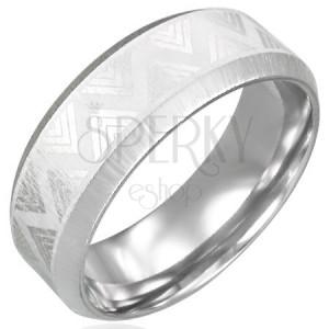 Oceľový prsteň so skosenými hranami - Triangel